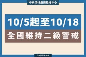 Read more about the article 持續維持疫情第二級警戒標準
